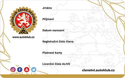 členská karta - přední strana